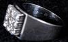 Ring, vitguld samt 9 briljanter. tot vikt 7 gram.