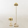 A set of floor lamp and table lamp bergboms later part of the 20th century.