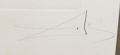 Salvador dalí, torrnål kolorerad med stencil signerad och numrerad 129/300.