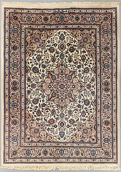 An old Kashmir signed carpet ca 248 x 202 cm.