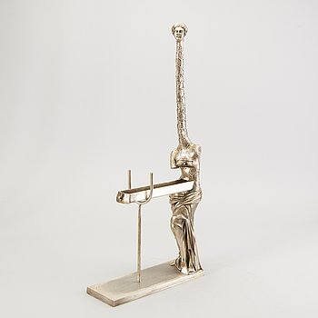 Salvador Dalí, a signed and numbered silverpatinated bronze 557/1000.