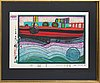 Friedensreich hundertwasser, serigraph in colours with metal embossing numbered 1649/3000.