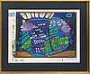 Friedensreich hundertwasser,  serigraph in colours with metal embossing, numbered 1649/3000.