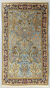 An old Ghom carpet ca 270 x 164 cm.