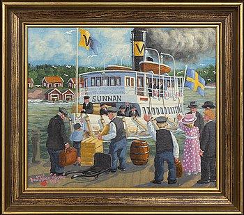 Bert Håge Häverö, a igned and dated oil on canvas.