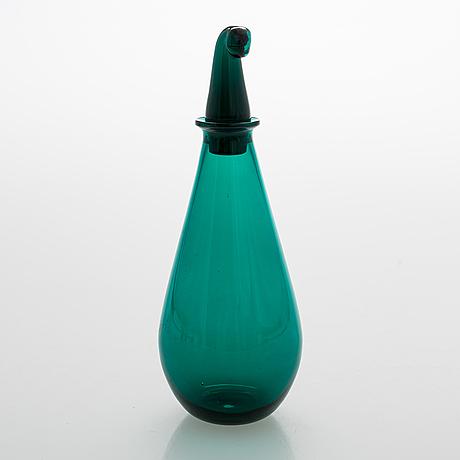 "Nanny still, a carafe with 7 glasses ""nukkumatti"" from 50/60's by riihimäen lasi."