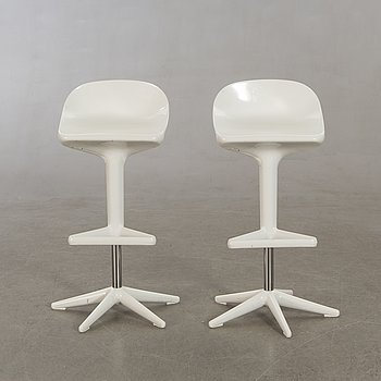 "Antonio Citterio, Bar stools, a pair, ""Spoon"", for Cartel, Italy."
