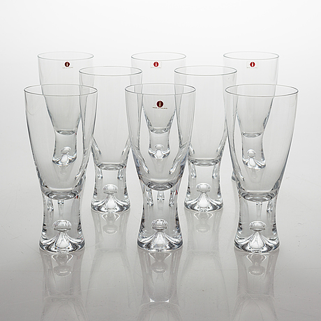 Tapio wirkkala, a 27 piece glassware set 'tapio', iittala, finland.