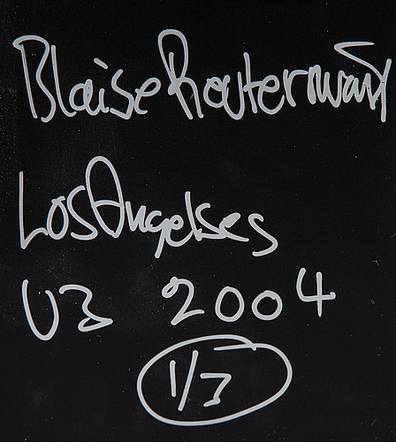 Blaise reutersward, c-print, signed and numbered 1/3 on verso.