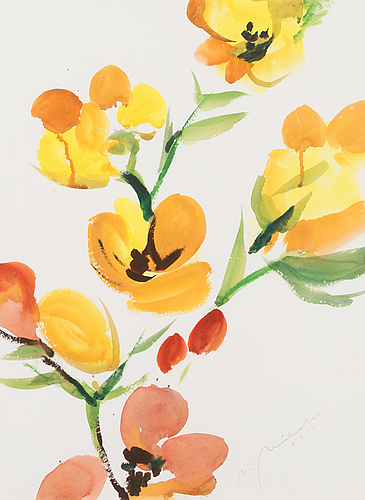 Nandor mikola, watercolour, signed and dated 2005.