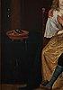 Christoph jacobsz van der lamen, hans krets. 5 st, osignerad. förstärkta pannåer 50 x 39 cm vardera.