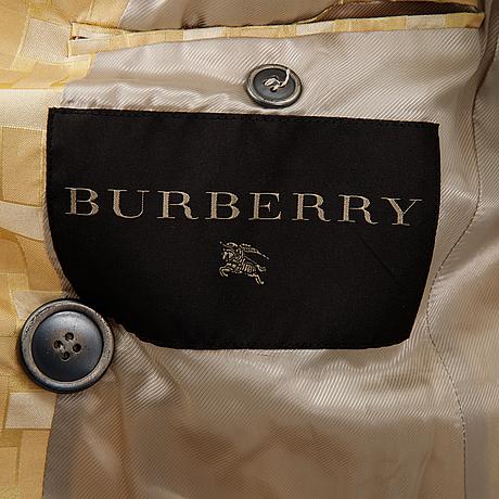 Burberry, a silk coat, italian size 40.