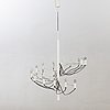 Ceiling lamp, metal, probably germany, 1970s-80s.