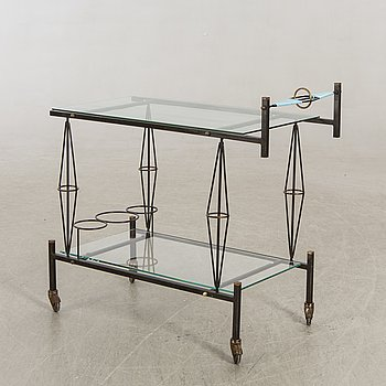 Serving trolley, Probably France, 1950s.