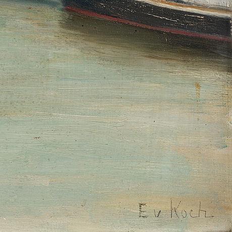 Ebba von koch, oil on canvas panel, signed.