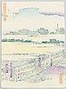 Ando utagawa hiroshige ii, efter, färgträsnitt. japan, tidigt 1900-tal.