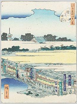 Ando Utagawa Hiroshige II, after, a colour woodblock print, Japan, early 20th century.