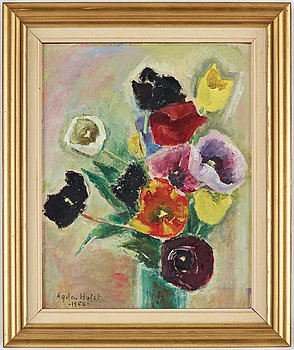 Agda Holst, oil on canvas. Signed and dated 1952.