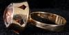 Ring, 18k guld samt bergkristall. tot vikt 6 gram.