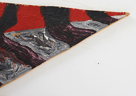Petter zennström, oil on paper and board, signed.