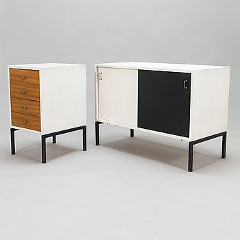 Oiva Parviainen, A 1960's sideboard and drawer unit for Lahden Puujalostus.