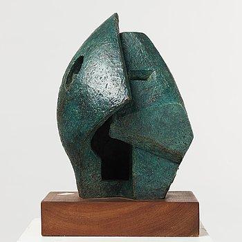 Kathe Lipin, sculpture, bronze, signed K Lipin.