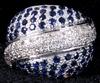 Ring, vitguld samt safirer och briljanter. tot vikt 9 gram.