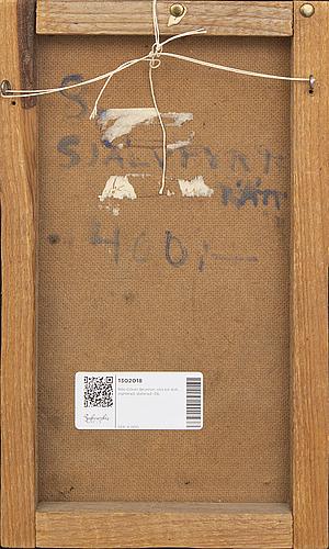 Nils-göran brunner, oil on canvas, signed, dated -56.