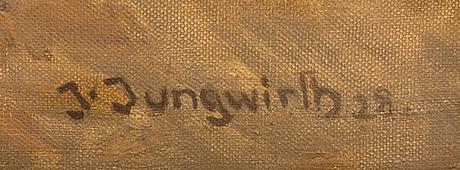 Joseph jungwirth, olja på duk, signerad j jungwirth.