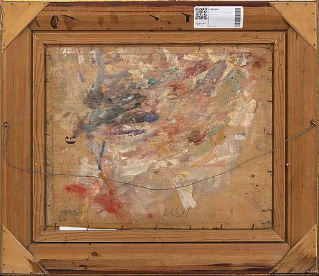 Gerhard karlmark, oil on panel signed.