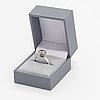 A 14k white gold ring with a ca. 2.51 ct diamond.