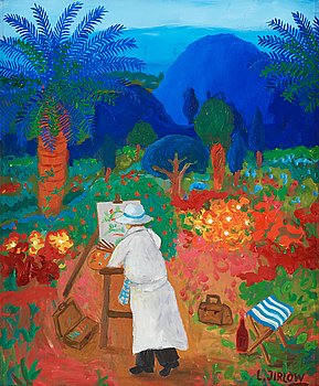 743. Lennart Jirlow, Painter by the easel.