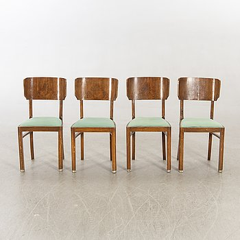A set of four Italien Art Deco chairs.