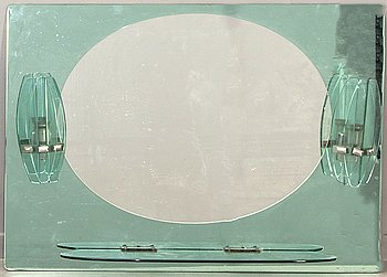 An Italian Fontana Arte bathroom mirror 1950/60s.