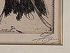 Anders zorn, etsning, 1896, signerad med blyerts.