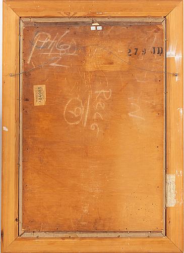 Arvid mauritz lindström, oil on canvas, signed.