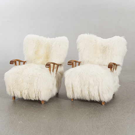 Armchairs a pair, 1950s-1960s.