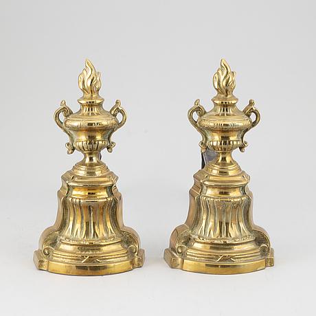 Eldhundar, ett par, empirestil, 1800-tal.