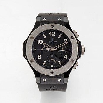 Hublot, Big Bang Ice, chronograph, wristwatch, 44 mm.