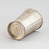 A silver beaker by c.f. carlman, an inscription underneath, dated 1939.