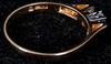 Ring, 18k guld samt 3 briljantslipade diamanter. tot vikt 3 gram.