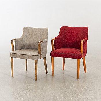 Armchairs, 2 pcs, 30s, Manufacturer GA Berg.