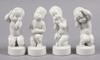 Figuriner, 4 st, porslin, svend lindhart, bing & gröndahl.