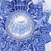 Aimo okkolin, an ulpukka (water lily) glass vase, signed aimo okkolin riihimäen lasi oy.