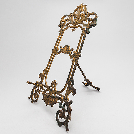 A late 19th century book stand / frame marked deposé.