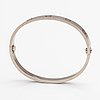 "Cartier, armband ""love"", 18k vitguld."