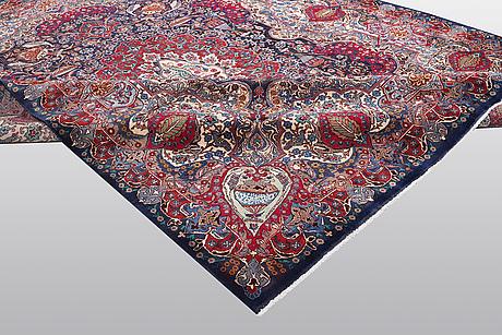 A carpet, kashmar, ca 382 x 295 cm.