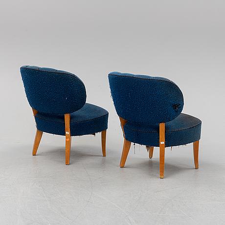 A pair of carl malmsten 'gamla berlin' easy chairs.