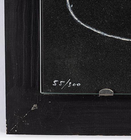 Joan miró, färglitografi, 1961, stämpelsignerad 55/300.