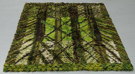 """Marianne richter, a carpet, """"kolmården"""", a machine made pile, ca 193 x 137 cm."""